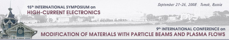 15th International Symposium on High-Current Electronics and 9th International Conference on Modification of Materials with Particle Beams and Plasma Flows